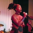 Dobet Gnahoré in concert at Rich Mix, London