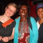 Paula Nightingale, Yaba Badoe and Magaret Busby